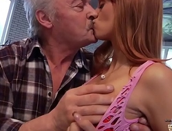 Padre Falls In Love With Beautiful Young Redhead and Fucks Her Pussy