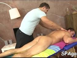 Steamy sexy gay massage