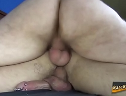 Bear pounds ass bareback