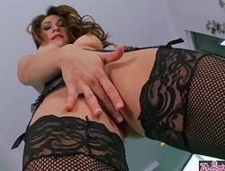 Twistys - (Sara) Luvv starring at one's fingertips Fishnet Fox
