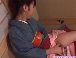 Chinatsu Nakano doing her hairy poke hole really goood