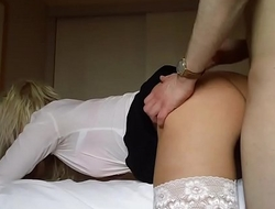 my new blonde gets a facial
