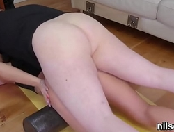 Kinky kitten was brought in anal nuthouse for painful treatment