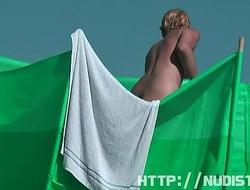Amateur public nudist beach voyeur vid