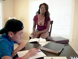 BANGBROS - Ebony Teacher Daya Knight&rsquo_s Plan For 19yo Juan El Caballo Loco