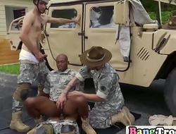 Military forces use perfect technique to penetrate anus