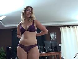 Russian slut Ani Black Fox enjoy new cock well